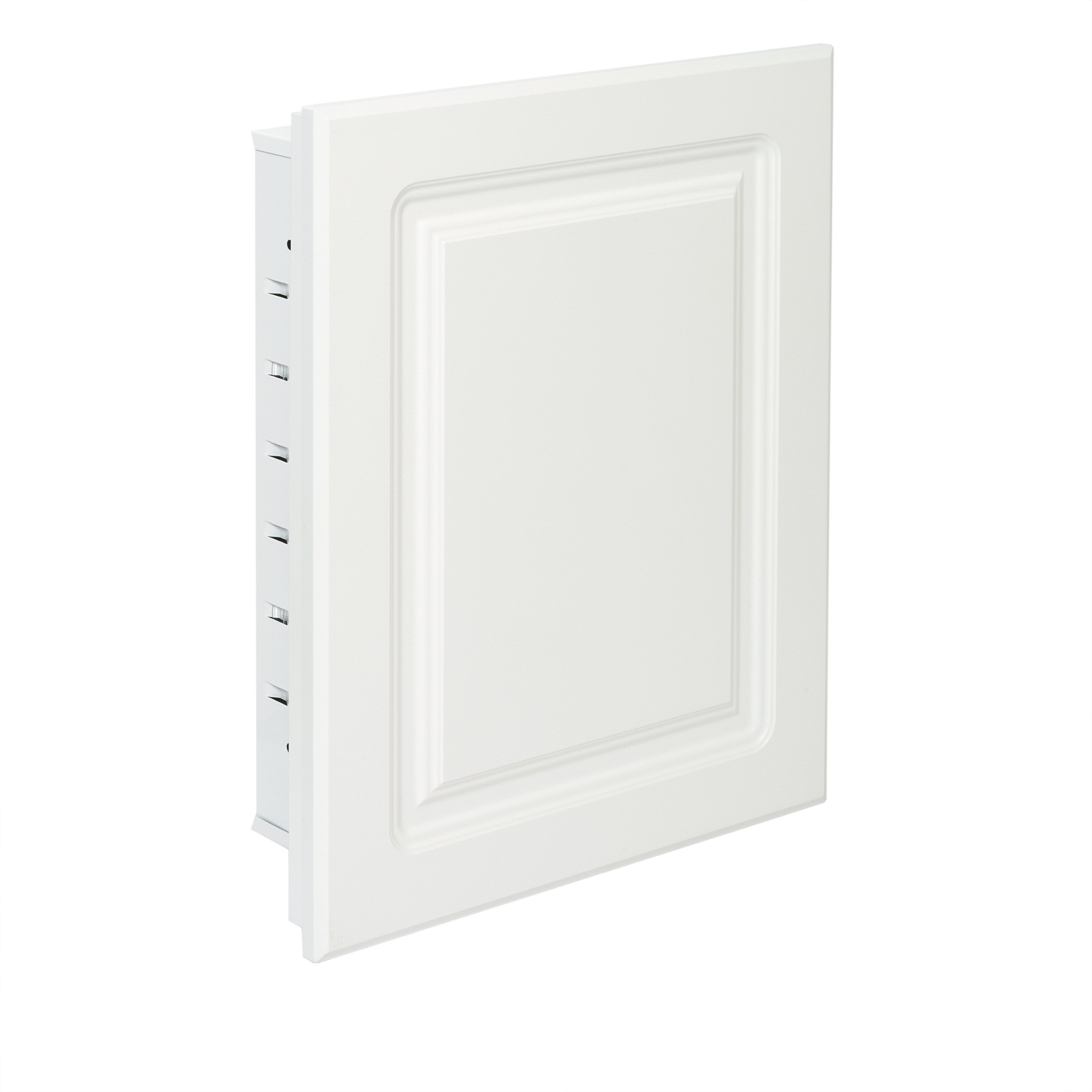 American Pride G9612RPR1 Recessed White Raised Panel Door with Steel Body Medicine Cabinet, 16 x 20''
