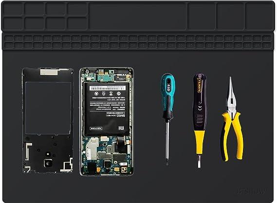 ByWind Hitzebest/ängdige Reparatur Projektmatte L/ötmatte Silikon L/ötstation Matte f/ür Elektronikreparatur