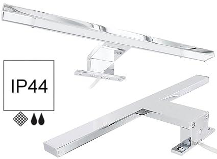 lampada da bagno a led per specchio 45w alluminio