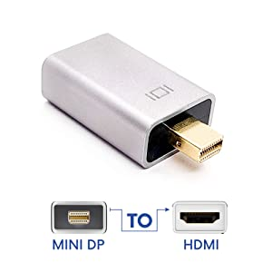Thunderbolt Compatible Adapter HDMI to Mini DisplayPort Connector for Apple MacBook Pro, MacBook Air, HDTV, iMac, Microsoft Surface