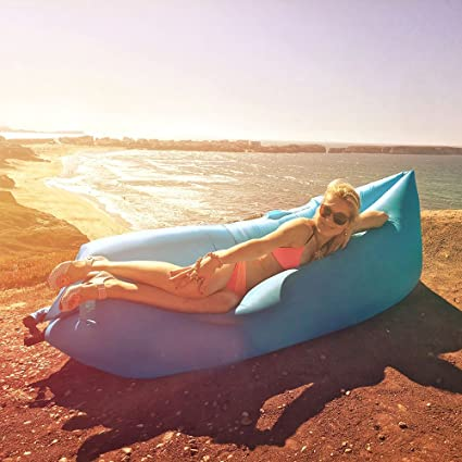Fast Inflatable Air Bag Sofa Outdoor Beach Camping Sleeping Lazy Bed Mat Fashion