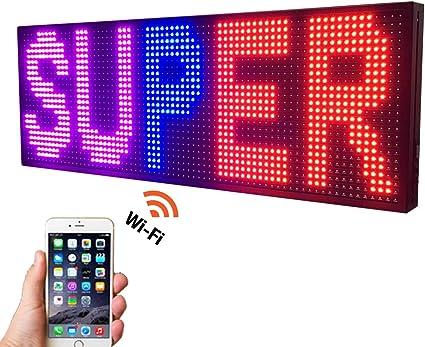 Amazon.com: Señal LED SMD de 39.0 in x 14.0 in con luz LED ...