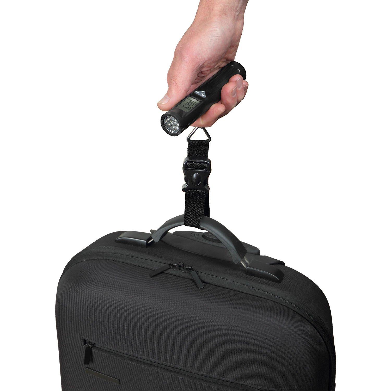 Trailite TL-LSC02 Digitale Kofferwaage bis 40 kg mit Taschenlampenfunktion 8 LEDs