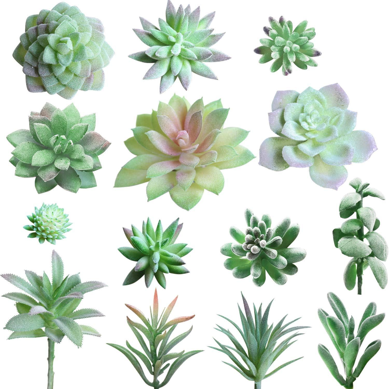 Amazon Com 14 Pcs Artificial Succulents Picks Unpotted Faux
