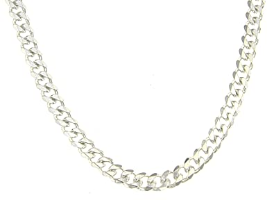 abf3aa0d96b5 TENDENZE Collar Cadena Gourmette de plata de ley macizo 7mm longitud 42cm  directamente desde la fábrica
