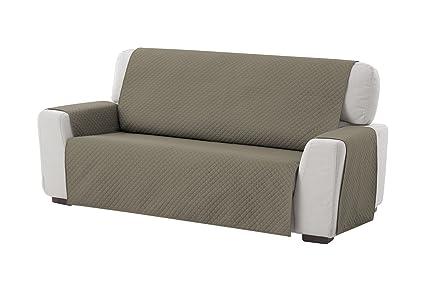 textil-home Funda Cubre Sofá Adele, 4 Plazas, Protector para Sofás Acolchado Reversible. Color Marrón