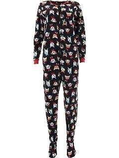 Rene Rofe Girls 1-Piece Hooded Pajamas