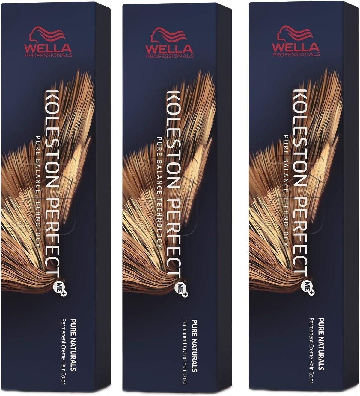 Wella Koleston Perfect Me+ KP Pure Naturals 7/00 - Pack de 3 unidades, color rubio medio natural