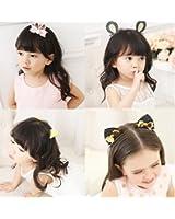 Sunrisee 7 Pcs Cute Cat Ear Hair Clips Hair Barrettes for Girls Baby Kids