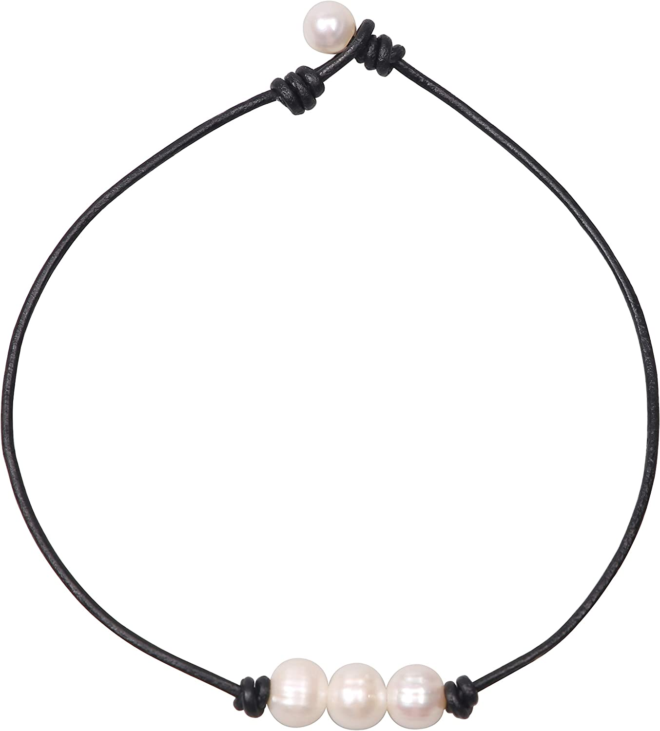 pearl choker necklace Real pearl necklaces gift for her,christmas gift
