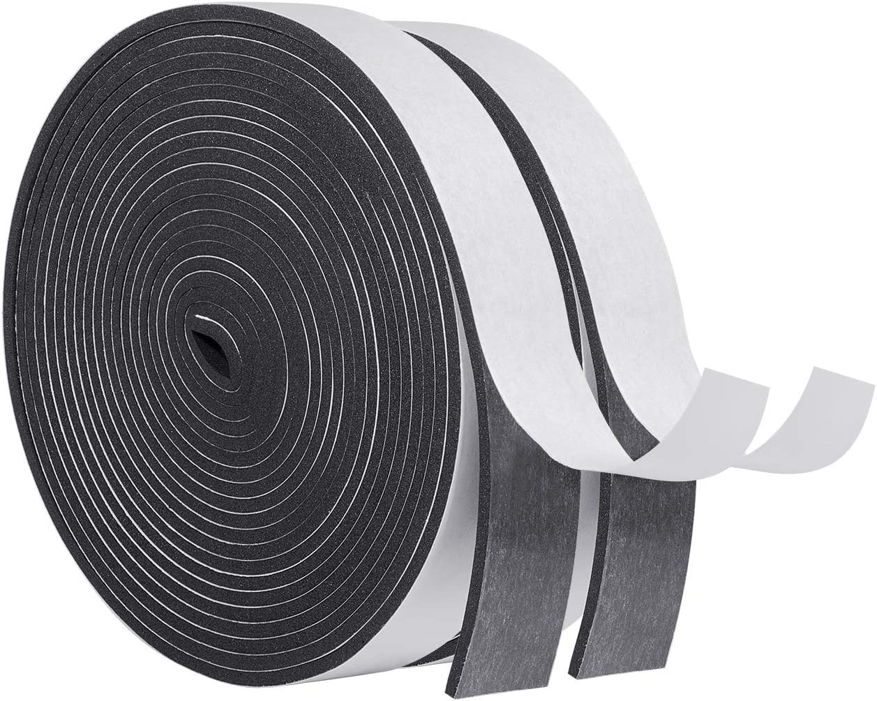 Foam Sealing Strip,5 Meters 14x12mm Large Self-Adhesive Windproof Dustproof Soundproof Anti-Collision Rubber Seal Sound Insulation Sealing Strip Anti Mosquito #4