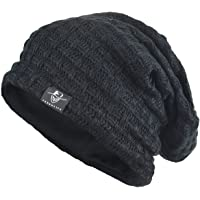 FORBUSITE Men's Stylish Slouchy Crease Knit Beanie Long Hat