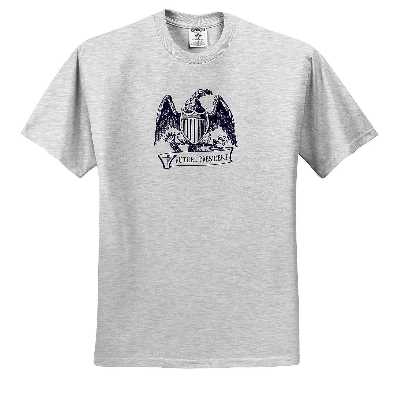 Vintage American Emblem with Text Ribbon in Blue Future President T-Shirts 3dRose Russ Billington Designs