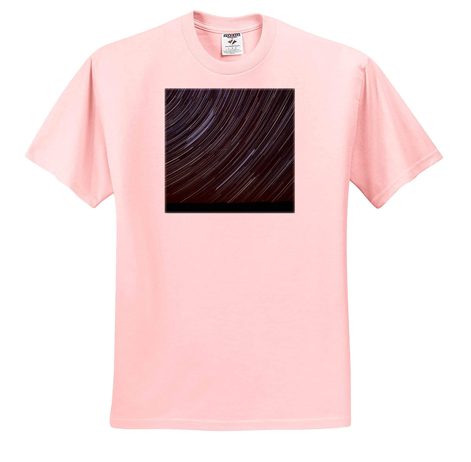 Star Trails and Perseid Meteor Showers Stars ts/_315161 Washington State Adult T-Shirt XL 3dRose Danita Delimont