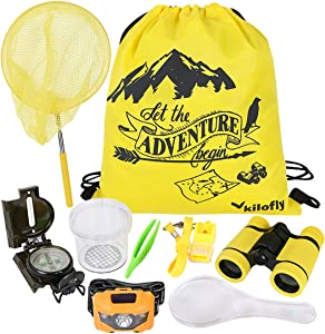 kilofly 9-in-1 Kids Nature Explorer Kit Fun Backyard Bug Catching Adventure Pack