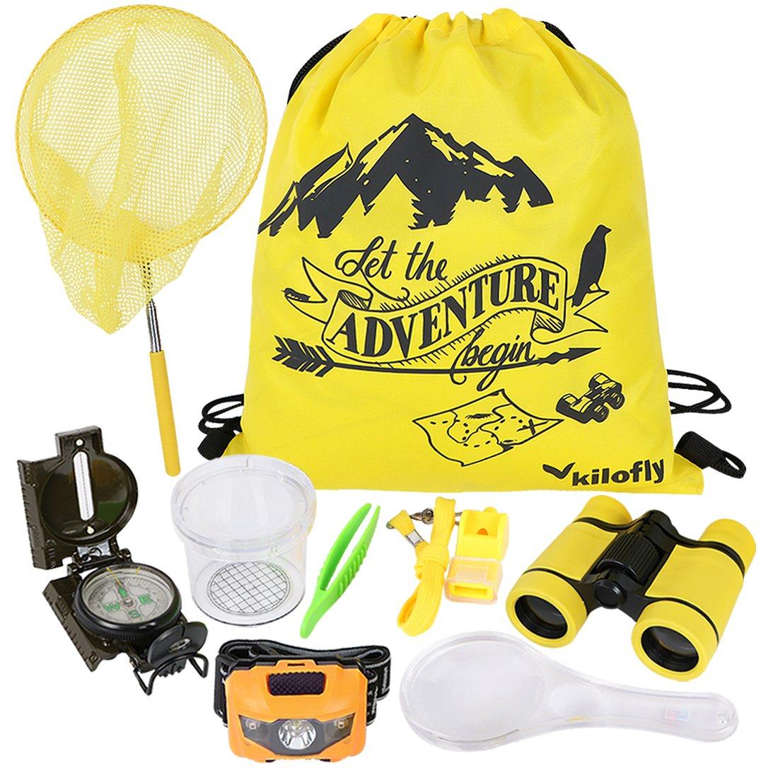 kilofly 9-in-1 Kids Nature Explorer Kit Fun Backyard Bug Catching Adventure Pack by kilofly