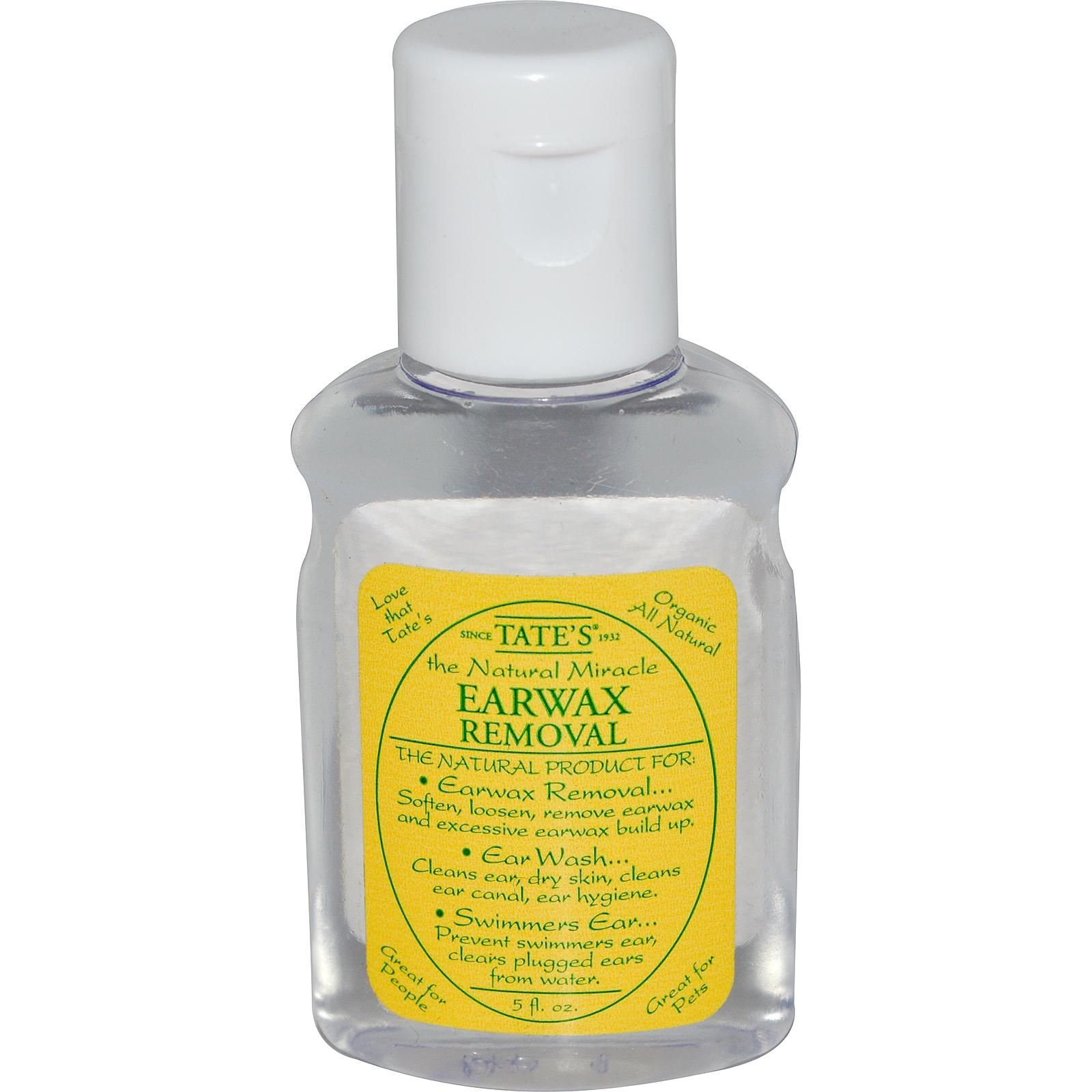 Tate's The Natural Miracle - EARWAX REMOVAL .5oz
