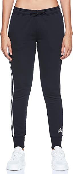 adidas W Must Haves 3-Stripe French Terry Pant Pantalones, Mujer ...