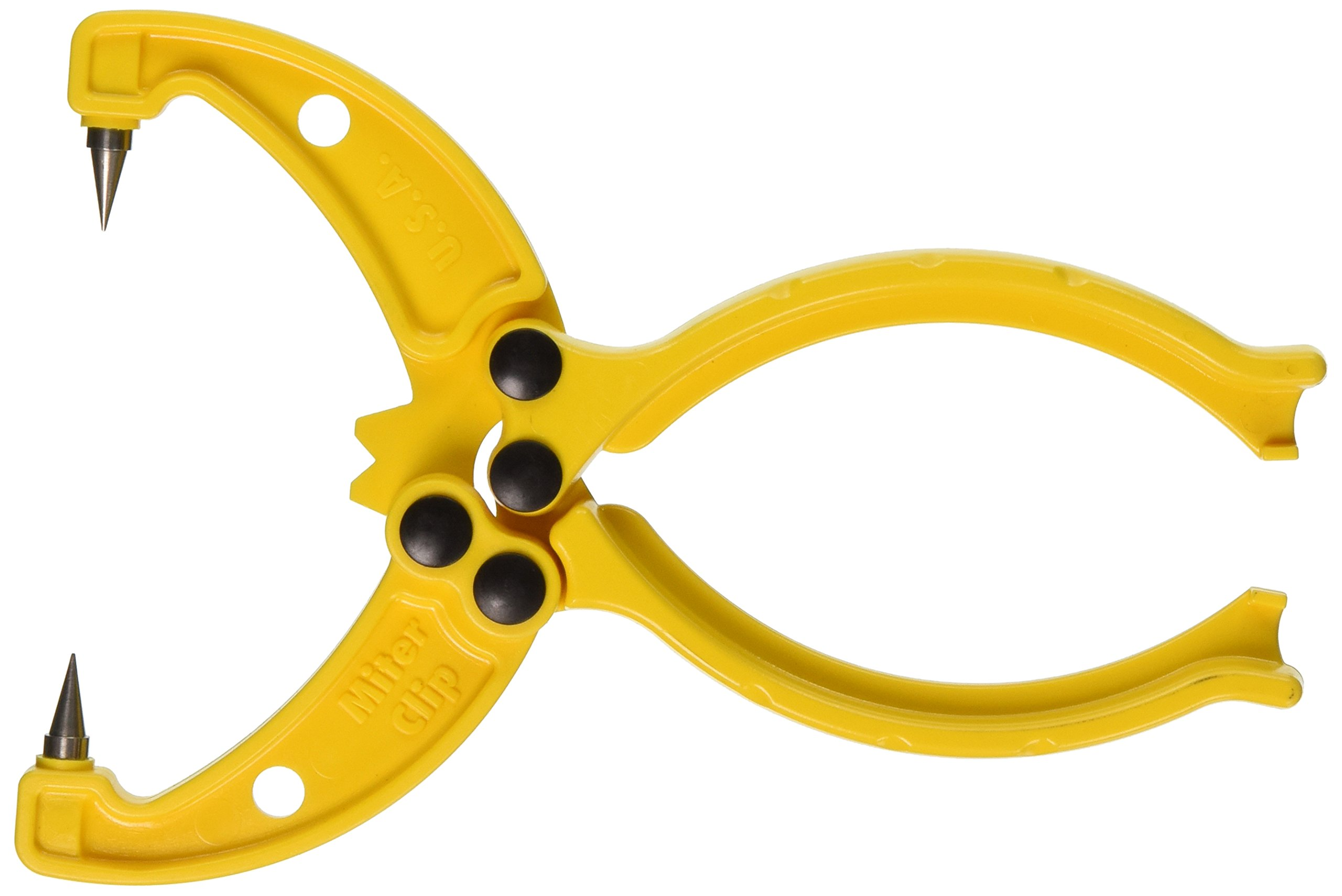 Miter Clip 003027 Corner Clamp for Tight Glue Joints, Yellow