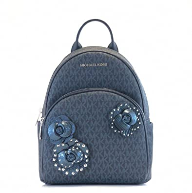 d07a60ae2a2d2b Amazon.com: Michael Kors Abbey Medium Signature Floral PVC Backpack  Admiral: Shoes