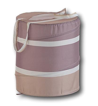 Pop-Up Wäschekorb Wäschebox Wäschesammler faltbar Wäschesack Kinder  Aufbewahrung 75 Liter (Beige)