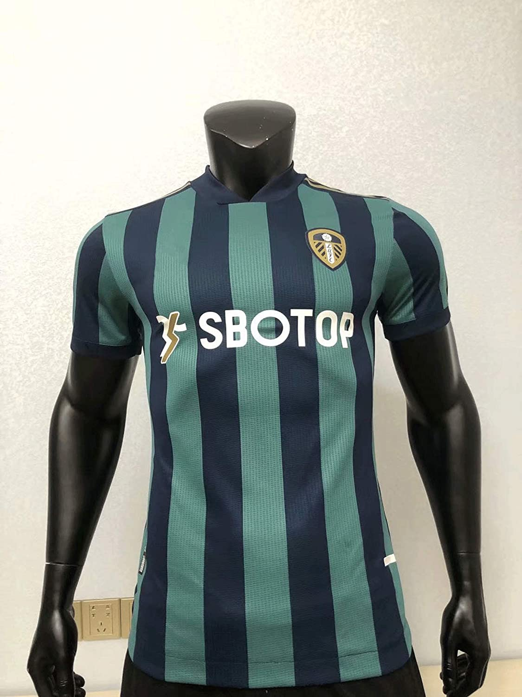 Away GameSoccer Suit,Football Gift Green-M 20//21 New Season Leeds United Logo Short Sleeve Jersey,Sports T-Shirt,Home Court