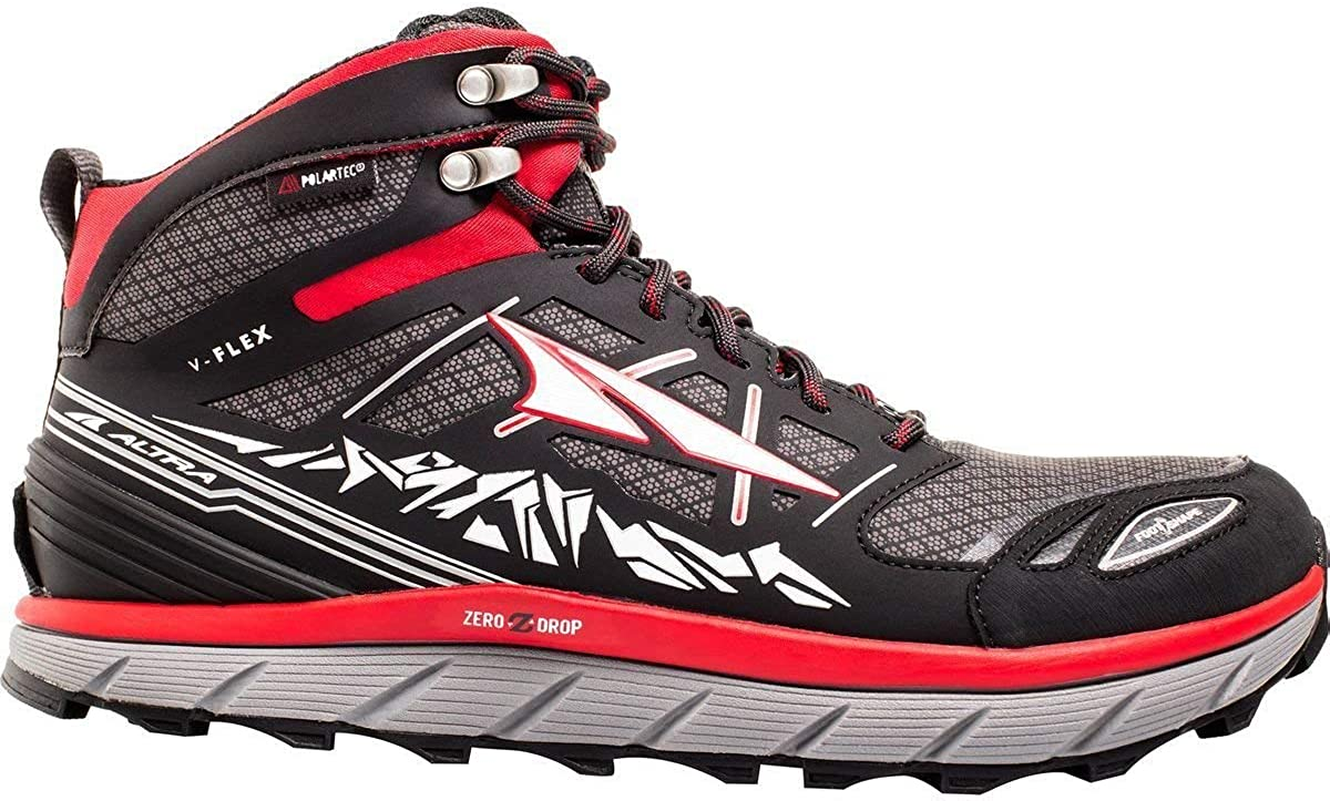 Altra Footwear Men's Lone Peak 3.0 Mid Neoshell Trail Running Shoe,Red,US 9 D