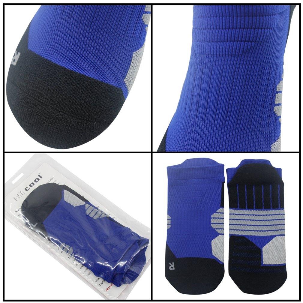 NIcool Women's Antiskid Wicking Soft Cushion Roll Top Outdoor Sports Hiking Trekking Running Short Quarter Socks 6 Pairs by NIcool (Image #4)