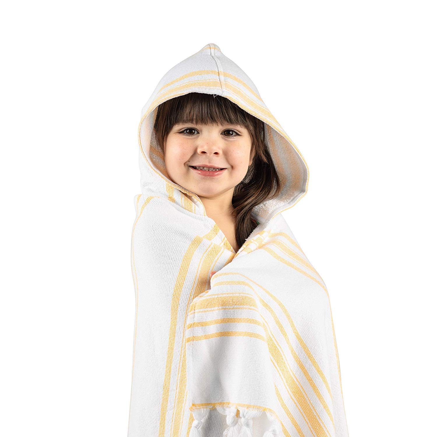 Hooded Bath Towel for Kids, Luxury Soft Hooded, Handmade in Turkey myHavlu - Yellow by Havlu