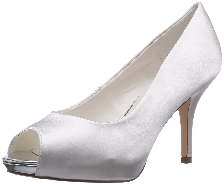 TALLA 38 EU. Menbur Wedding Amalia - Zapatos de tacón con Punta Descubierta de Raso Mujer
