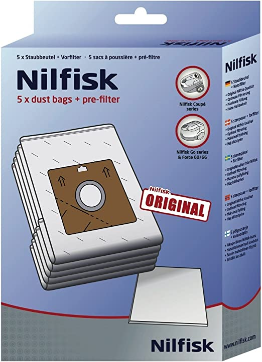 Nilfisk Two-Ply Dust Bags - Bolsa de aspiradora: Amazon.es: Hogar