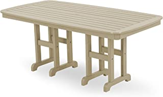 product image for POLYWOOD NCT3772SA Nautical Dining Table, 37 by 72-Inch, Sand