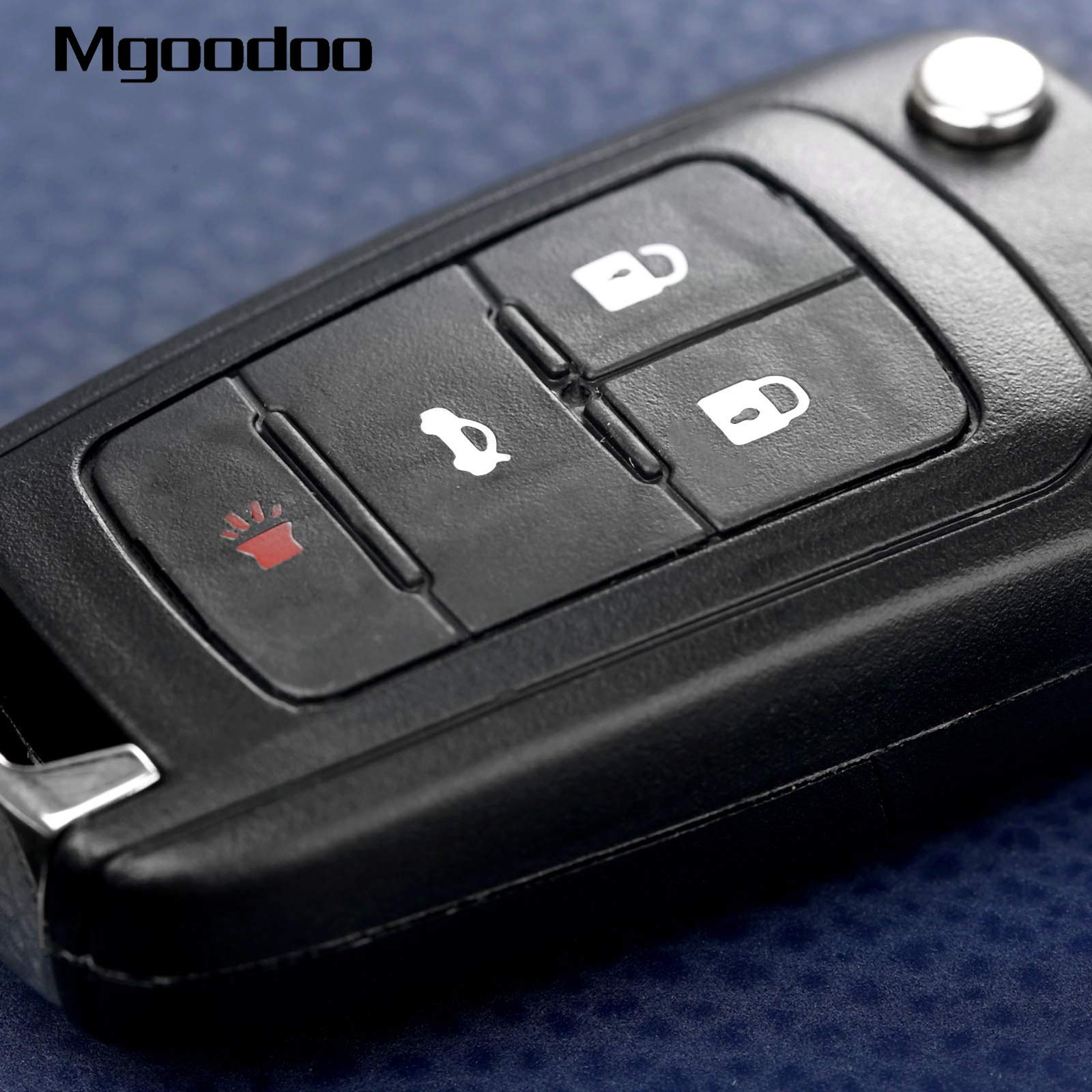 Daphot-Store - 4 Button Flip Folding Remote Key Case Shell Replacement Entry Fob For Buick LaCrosse Regal Verano GMC Terrain Car Covers by Daphot★Store (Image #4)