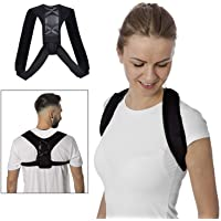 Posture Corrector for Women Men, Back Posture Brace with Powerful Magic Stickers Effective Comfortable Adjustable Posture Support Belt Kyphosis Brace (27-48 inches)