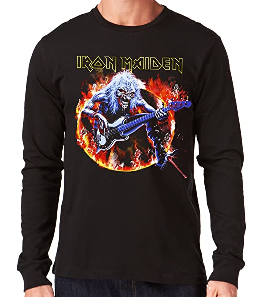35mm - Camiseta Hombre Manga Larga - Iron Maiden - Steve Harris - Long Sleeve Man
