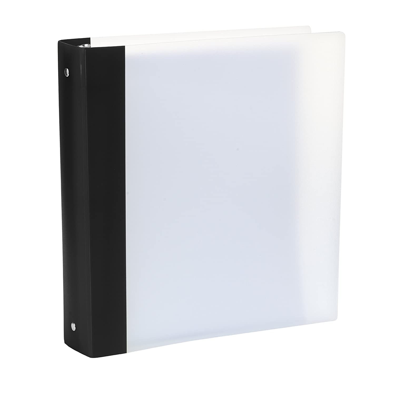Storex FlexiColor 1.5-Inch Binder, Black Spine (52260U01C