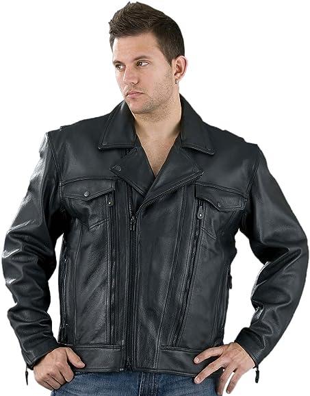 b411322df Men's Pistol Pete Biker Leather Jacket -Big-Tall Sizes! at Amazon ...