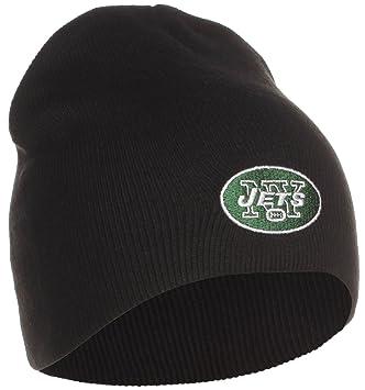 7856df05d97de8 Amazon.com : NFL CUFFLESS BEANIE KNIT HAT NEW YORK JETS BLACK : Sports Fan  Beanies : Sports & Outdoors