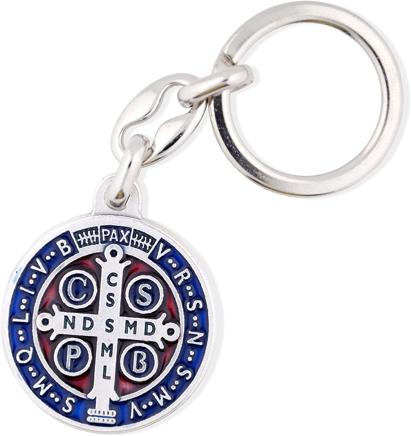 Vatican Imports Saint Benedict Medal Key Chain with Colored Enamel