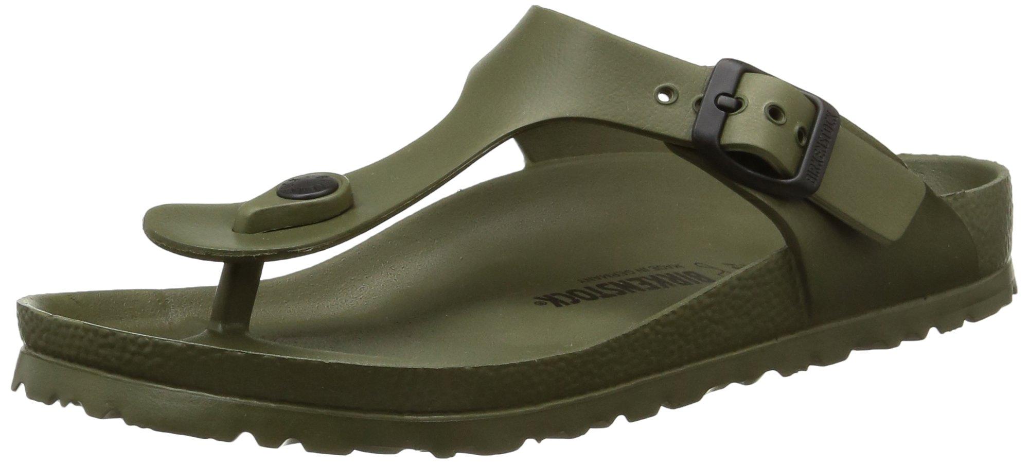 Birkenstock Womens Gizeh EVA Sandals Khaki Size 40 M EU