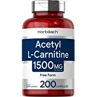 Acetyl L-Carnitine 1500 mg 200 Capsules   ALCAR   Non-GMO, Gluten Free   by Horbaach