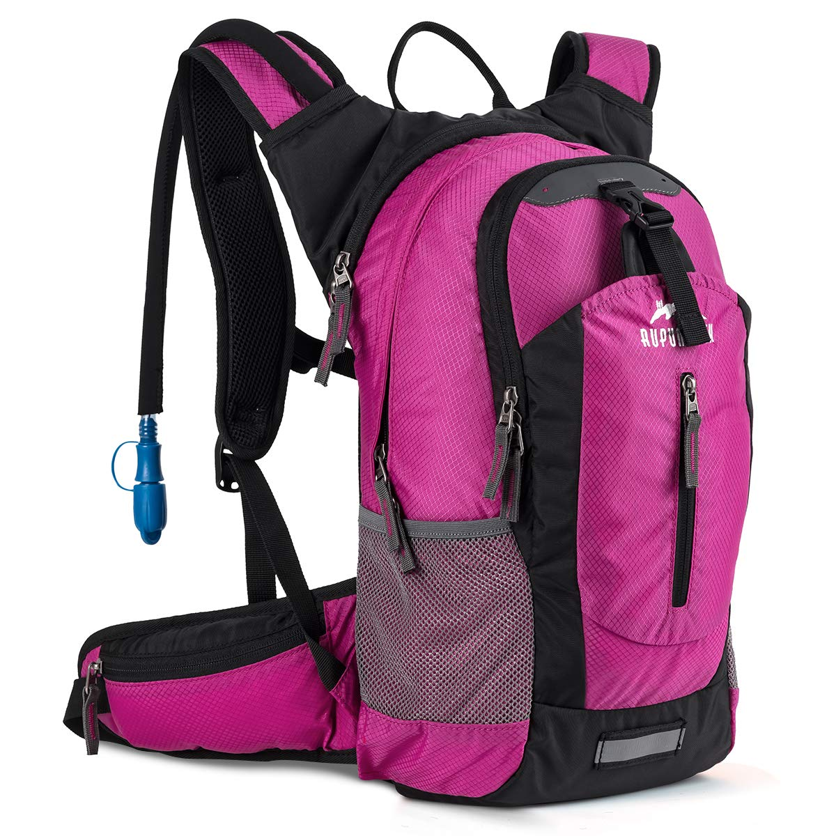 RUPUMPACK Insulated Hydration Backpack Pack with 2.5L BPA Free Bladder, Lightweight Daypack Water Backpack for Hiking Running Cycling Camping, School Commuter, Fits Men, Women, Kids, 18L Rose by RUPUMPACK