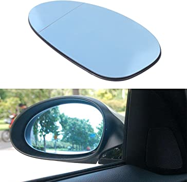 One Pair of Electric Mirror Heated Blue Glass fit for BMW E90 3 Series 2005-2008