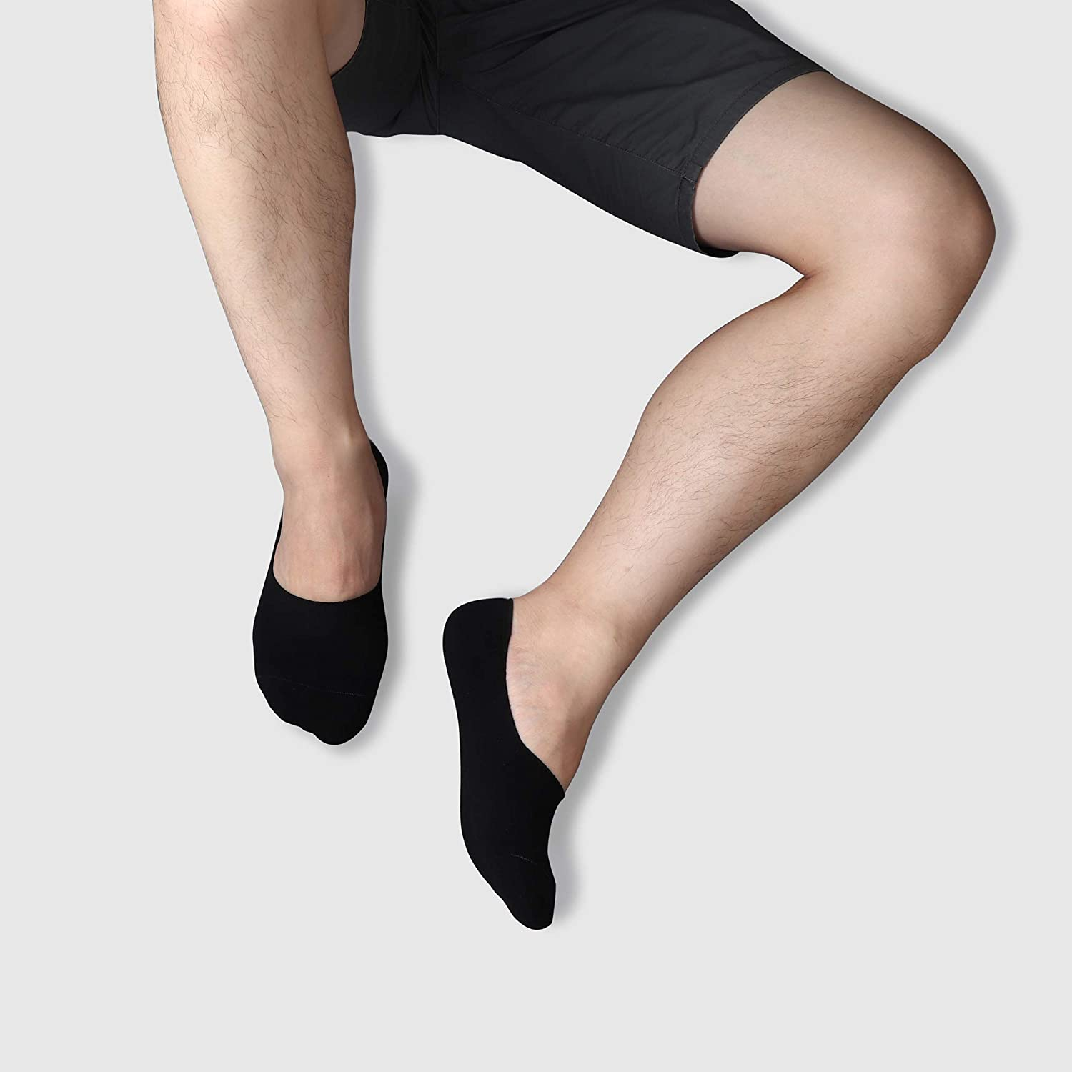 3//15 Packs Thin Casual Low Cut Ankle Boat Liners Invisible Cotton Socks Premium Mens Non Slip No Show Socks