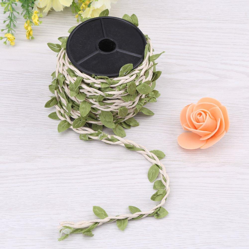 mezcla de tejer c/á/ñamo de hiedra Hemp Rope bosque de seda marr/ón claro cuerda de yute para bricolaje 10 m de cuerda de yute para decorar hojas de arpillera y manualidades 5 mm