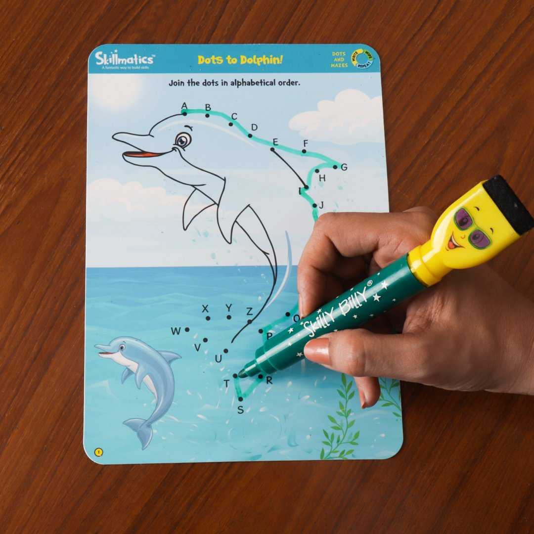 5 Skillmatics Educational Game: Boredom Buster | Erasable and Reusable Activity Mats 3-6 Years 6 Years Travel Friendly Toy with Dry Erase Marker Learning tools for Kids 3 4