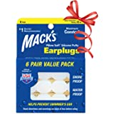Mack's Pillow Soft Silicone Earplugs - 6 Pair, Value Pack – The Original Moldable Silicone Putty Ear Plugs for Sleeping…