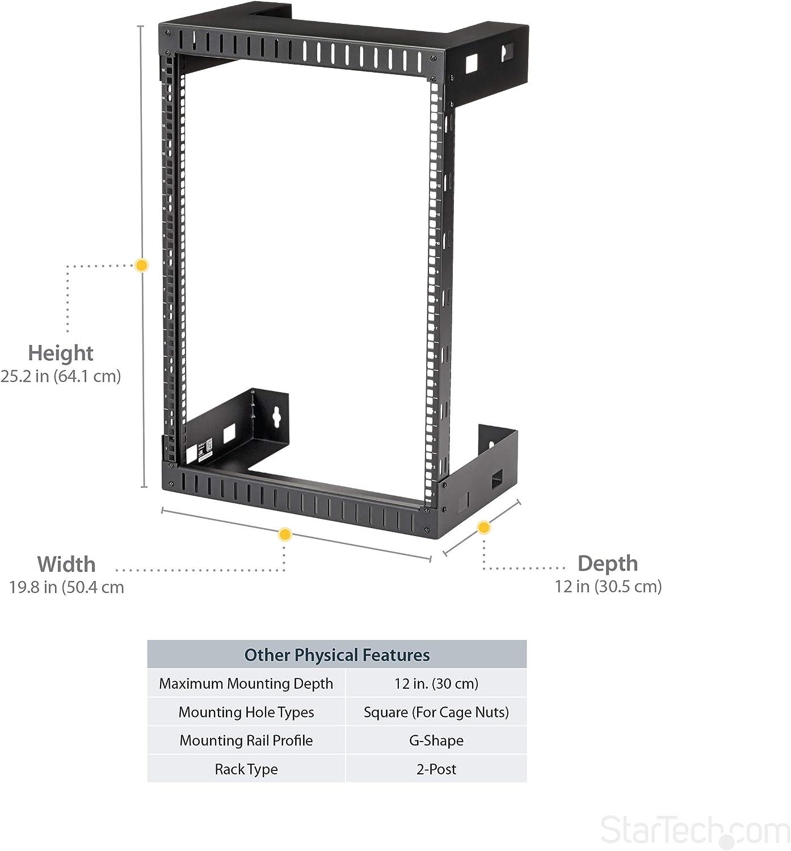 Rack Serveur 15u Armoire Reseau A Cadre Ouvert Fixation Murale Baie 15u Profondeur 30 Cm Accessoires Informatique
