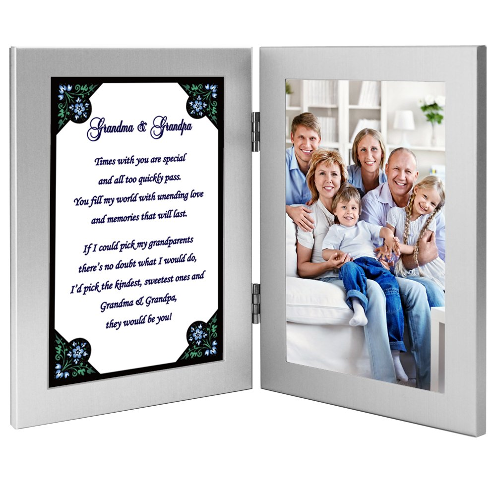 Gift for Grandma and Grandpa - Cute Poem in Double Frame - Add Photo by Poetry Gifts (Image #4)