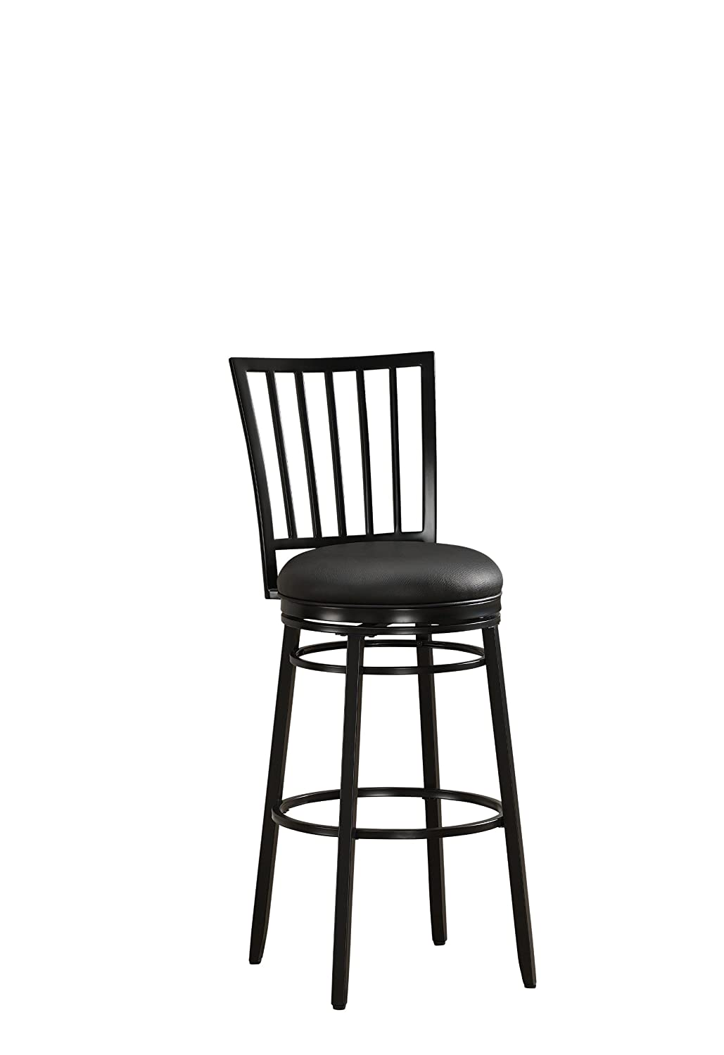 American Heritage Billiards Easton Bar Height Stool, Black